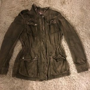 Free People Green Army jacket size XS